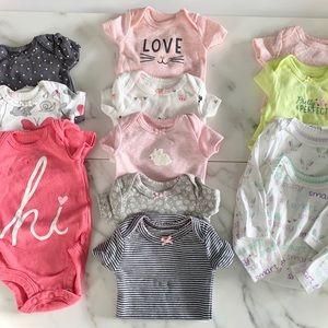 12pk premie & NB onesies undershirts baby girl